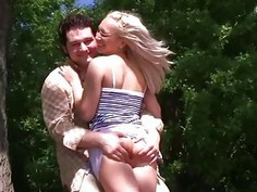 Sex on the beach with pickup blonde