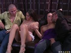 Wife swapping with busty Rachel Roxxx and Rachel Starr